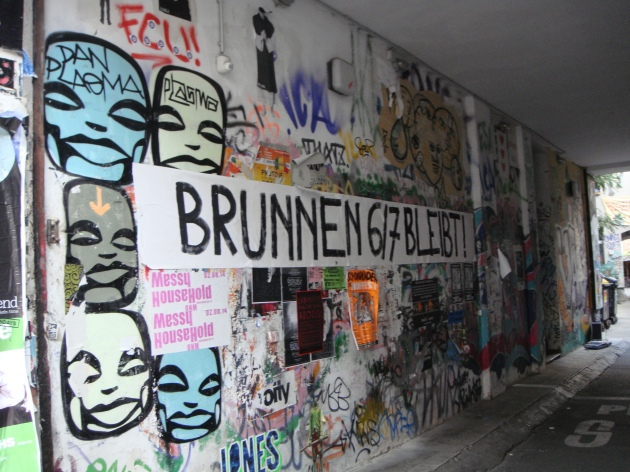 Brunnenstrasse graffitti