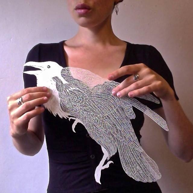 Maude White Bird Art