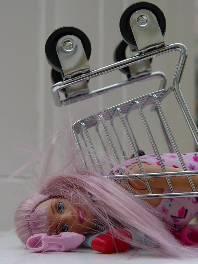 """Barbie's Shopping Binge"" by Olga Mitterfellner"
