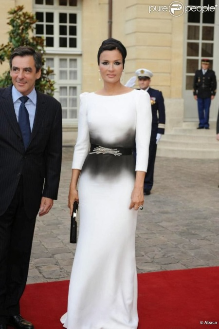 Sheikha bint Nasser in a Velentino dress.
