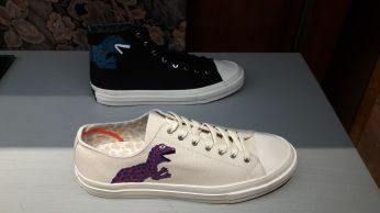 """Dino"" shoes retailing at GBP100"